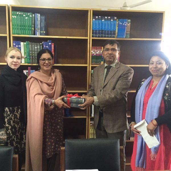 Kathmandu University, School of Law, Nepal receiving ILBF books, March 2017