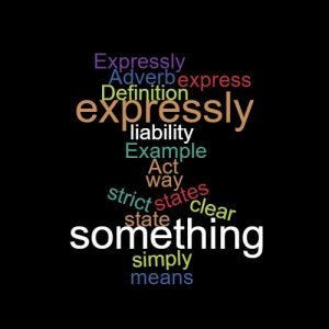 Study Legal English Word of the Week Expressly