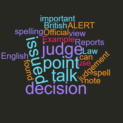 Study Legal English Word of the Week Judgement