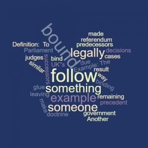 Study Legal English Word of the Week To Bind