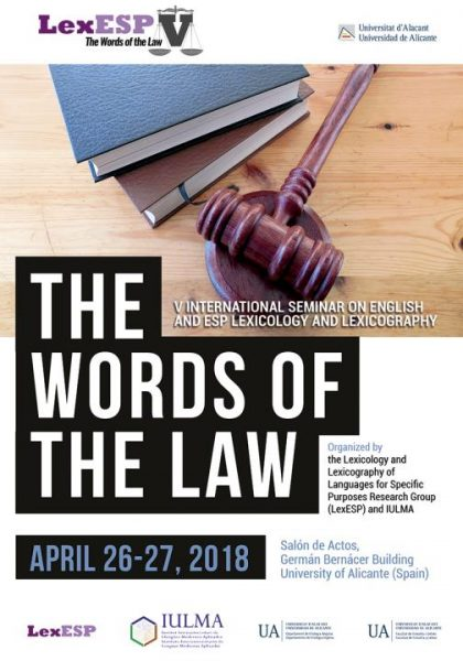 Lex ESP V Conference The Words of the Law