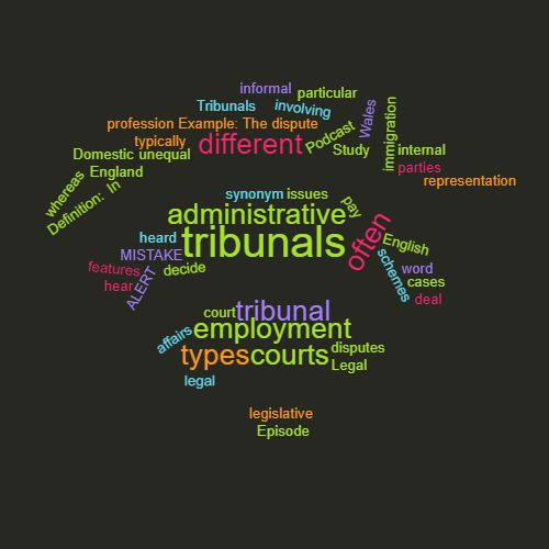 Study Legal English Word of the Week: Tribunal