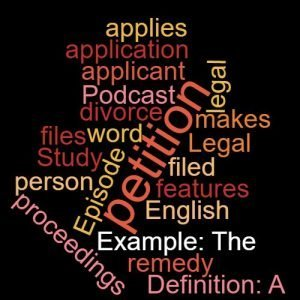 Study Legal English word of the week applicant