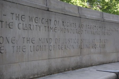 Poem outside the Supreme Court UK