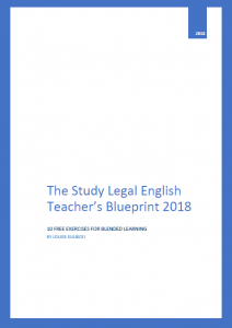 Study Legal English Teachers Blueprint 2018