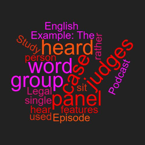 Study Legal English Word Week Panel