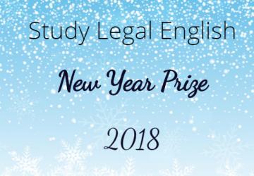 Study Legal English Prize 2018-2019