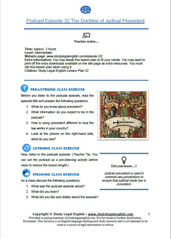 E32 Lesson plan