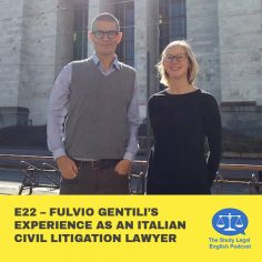 E22 û Fulvio Gentili experience as an Italian civil litigation lawyer