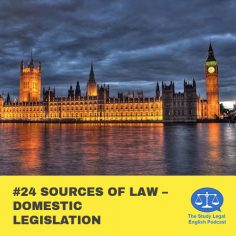 E24 û Sources of Law û Domestic Legislation