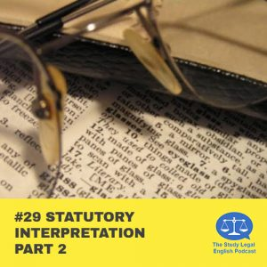 E29 û Statutory Interpretation part 2