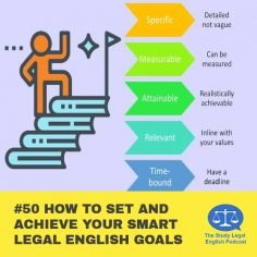 E50 How to Set and Achieve your SMART Legal English Goals
