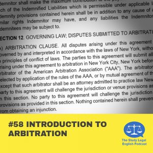 E58 Introduction to Arbitration