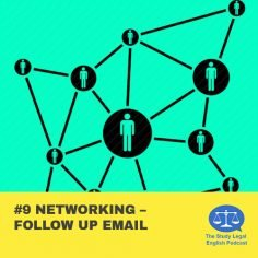 E9 û Networking û Follow up email