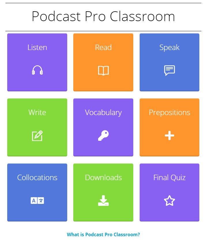 Podcast Pro classroom