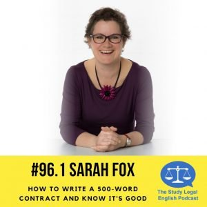 Sarah Fox 500 word contract