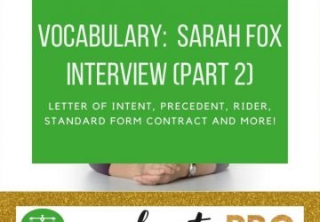Sarah Fox Interview part 2 Vocabulary